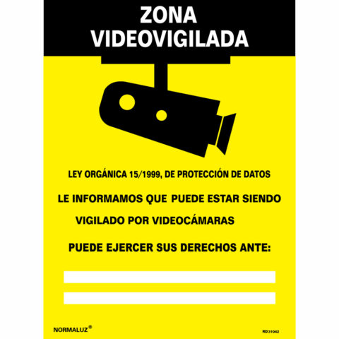 señal zona video vigilada