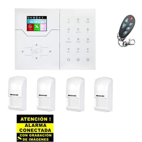 Kit de Alarma Táctil Bysecur IP WIFI. Central + 4 PIR + Mando