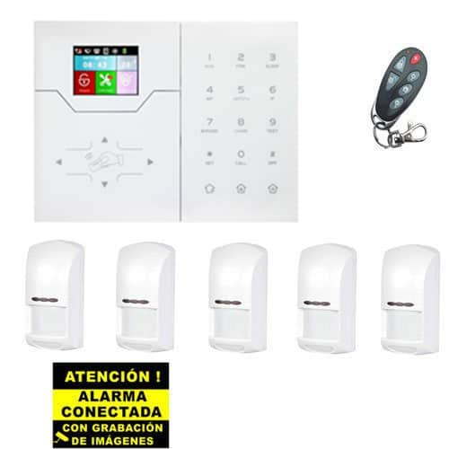 Kit de Alarma Táctil Bysecur IP WIFI. Central + 5 PIR + Mando