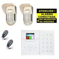 Kit de Alarma Táctil Perimetral Bysecur IP WIFI. Central + 2 Volumétricos de exterior + 2 Mandos